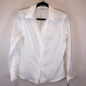 Calvin Klein NWT Non-Iron Dress Shirt Womens